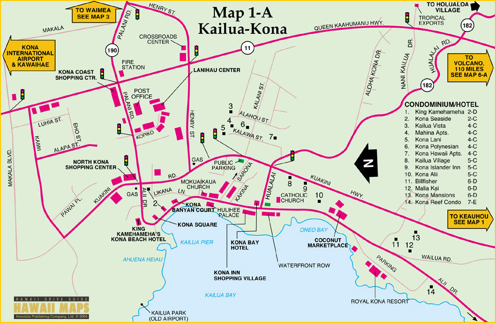 Kona Map Map Of Kona On The Big Island