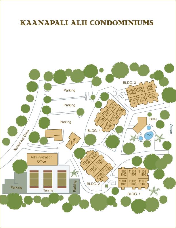 Kaanapali Alii: Site Map