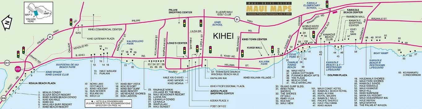Map Of Kihei Maui