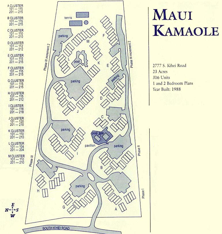 Maui Kamaole: Site Map