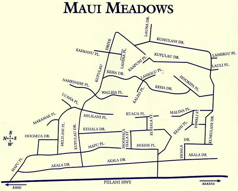 Maui Meadows Site Map