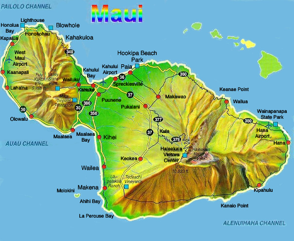 Maui Hawaii Map Map of Maui