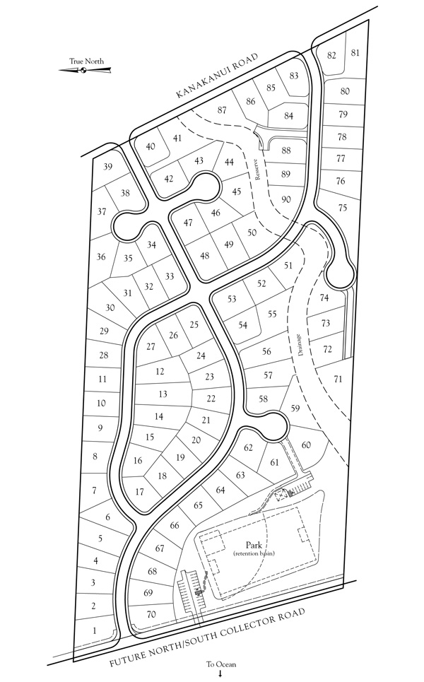 Moana Estates Site Map
